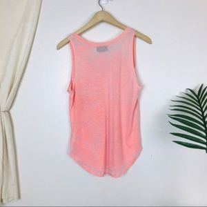 soulcycle Tops - Soulcycle East Pink V Neck Burnout Graphic Tank